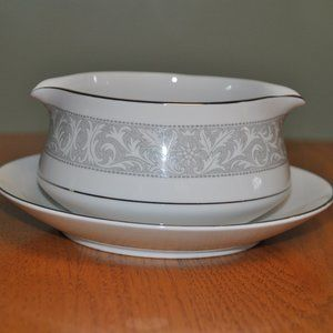 Gravy Boat With Plate By Imperial China (Japan)